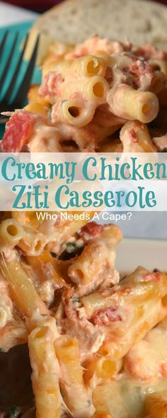 Bring Creamy Chicken Ziti Casserole to the dinner table, you'll get rave revie. New Recipes, Dinner Recipes, Cooking Recipes, Favorite Recipes, Healthy Recipes, Recipies, Popular Recipes, Irish Recipes, Yummy Recipes