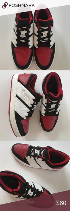 NWT Jordan NY Retro Sneakers Size 10.5 Black white and red retro sneakers Air Jordan Shoes Athletic Shoes
