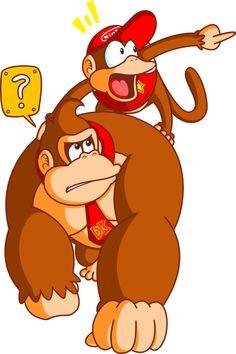 Donkey Kong 'n Diddy Kong by JamesmanTheRegenold.deviantart.com on @deviantART