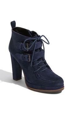 Navy blue booties, comfy