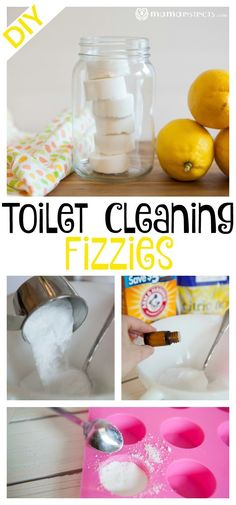 Making your toilet cleaning fizzies is a lot easier than you think and it only takes a few minutes! These DIY Toilet Cleaning Fizzies will help you tackle that toilet bowl without using toxic chemicals and the fizzies will help clean your toilet bowl. Diy Home Cleaning, Homemade Cleaning Products, Cleaning Recipes, Bathroom Cleaning, Natural Cleaning Products, Cleaning Hacks, Toilet Cleaning Tips, Cleaning Toilets, Kitchen Cleaning