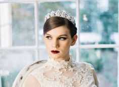 Garter Girl Loves: These bridal crowns and tiaras.- Like this bridal tiara!    #garter #weddinggarter #bridalgarter #gartergirl #tooprettytotoss #weddingheirloom #modernheirloom #thegartergirl #wedding #bridalstyle #bride #bridalfashion #bridegift #giftforbride #weddingmorning #weddingday#gartertoss #weddingtradition #GarterGirlLoves