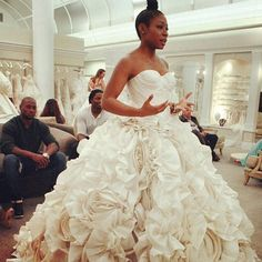 #Regram from @itsmekatrice get more info on this gown this Friday 11/7 @tlc's @syttd 9/7c..