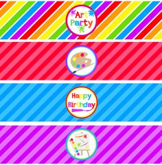 Art Party Water Bottle Wraps | Free Printables