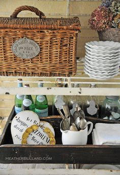 Vintage Kitchen Organization  for your #VT Industries kitchen #countertops