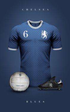 Chelsea FC - Vintage clubs on Chelsea Fc, Football Chelsea, Chelsea Blue, Retro Football, Football Kits, Football Jerseys, Rangers Football, College Football, Jersey Retro