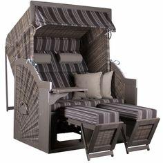 Strandkorb PURE Comfort XL PE grey, Dessin 423