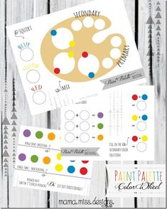FREE Paint Palette Printable Art Lesson for Kids