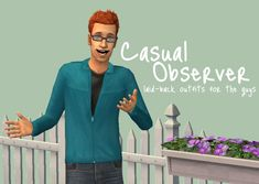 Mod The Sims - Casual Observer - laid-back outfits for the guys