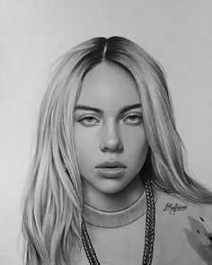 billie eilish portrait Pencil portrait b - portrait Portrait Au Crayon, Pencil Portrait, Portrait Art, Amazing Drawings, Realistic Drawings, Beautiful Drawings, Billie Eilish, Pencil Art Drawings, Art Drawings Sketches