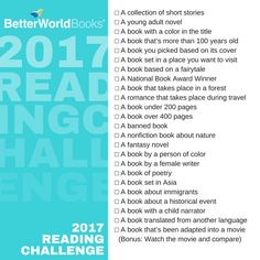 2017 Reading Challenge | BetterWorldBooks