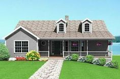 Houseplans.com Country Front Elevation Plan #75-116