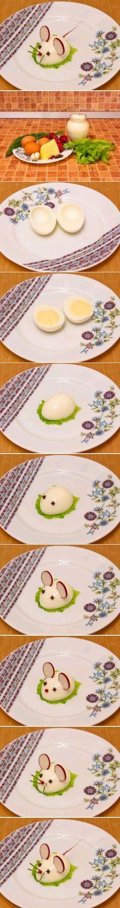 DIY Stuffed Egg Rat