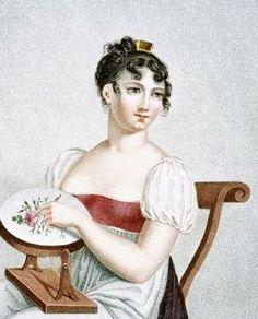 """Madame G. Busset-Dubruste """"The Embroiderer"""" 1816"""