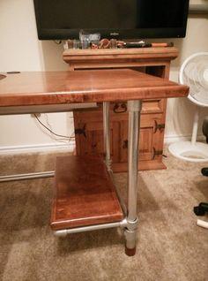 Custom DIY Industrial Pipe Desk For Gaming And Design