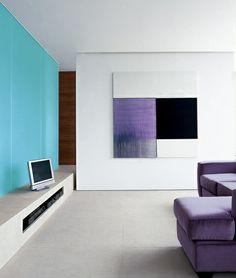 Greenwood apartment, London. Reception room with Callum Innes. Gavin Jackson…