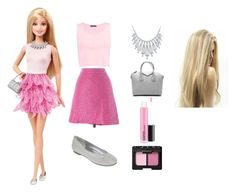 """""""Barbie"""" by unicorn214 ❤ liked on Polyvore featuring Boohoo, LOFT, Worthington, Bling Jewelry, Givenchy and NARS Cosmetics"""