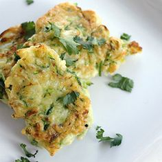 Easy to put together zucchini fritters are baked instead of fried for a healthy, delicious side dish without any guilt!