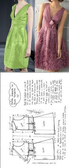 El vestido con encortinado a los pechos y los pliegues - DIY - litevoy, el corte y la costura - Marlen Mukai