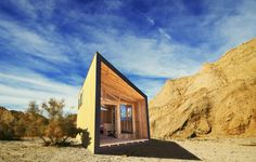 The Wedge modular cabin design in the California state parks