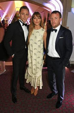 Tom Hiddleston, Jacqui Ainsley and Guy Ritchie attend a cocktail reception at the BFI Luminous Fundraising Gala in partnership with IWC and crystals by Swarovski at The Guildhall on October 6, 2015 in London, England (X)