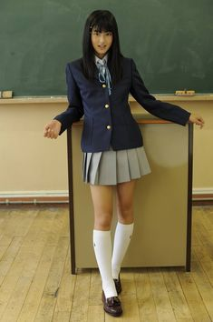 Schoolgirl in formal uniform in class School Uniform Fashion, Japanese School Uniform, School Girl Outfit, School Uniform Girls, Girls Uniforms, Girl Outfits, School Uniforms, Cute Asian Girls, Cute Girls