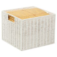 Offer your guests fresh-folded towels from this lovely woven bin, or add it to the office to hold colorful file folders and important documents....