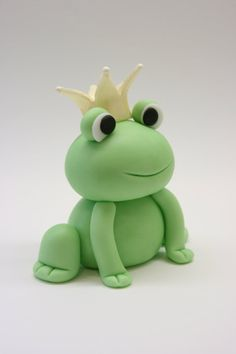 Fondant frog :-) love....so cute on top of a cake