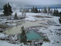 Have you ever thought about visiting Yellowstone in the winter? Here are 5 reasons to visit Yellowstone in the winter. Yellowstone National Park is Yellowstone Winter, Visit Yellowstone, Yellowstone Vacation, Yellowstone Camping, Yellowstone National Park, Oh The Places You'll Go, Places To Visit, Montana Winter, Snowmobile Tours