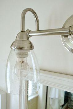Switching Out The Bathroom Light Twice Gl Bathroombathroom Fixturesmodern