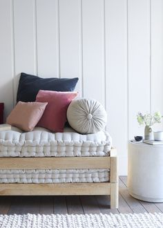 These are made for us specially in India out of piece-dyed linen. They look brilliant on our daybeds as well as some sofas. Bolster Cushions, Scatter Cushions, Throw Pillows, Cylinder Pillow, Comfy Sofa, Daybeds, Soft Furnishings, Sofas, Lounge