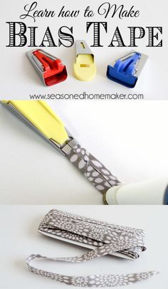 Bias Tape Tutorial: Making Bias Tape is easier than you think. Once you learn this simple sewing technique you will never purchase bias tape again. sewing | how to sew #seasonedhome