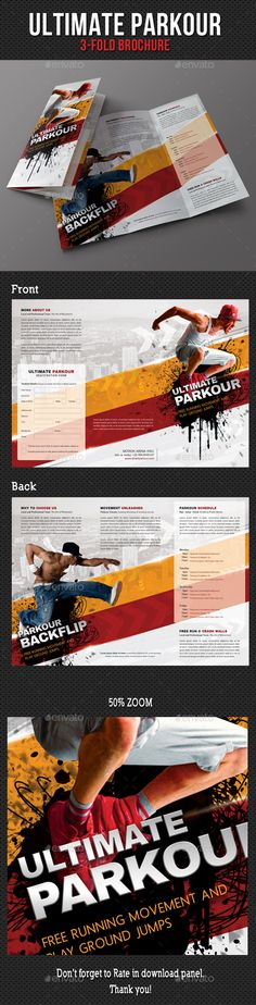 Ultimate Parkour 3-Fold Brochure  —  PSD Template • Only available here! →…