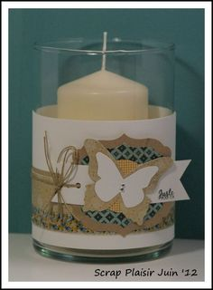Candle votive decorated SU style