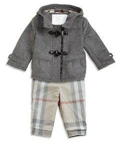 Burberry - Infant's Peplum Wool Duffle Coat