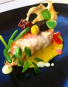 It's still Lobster Season in Turks & Caicos. Come try our Lobster, aji amarillo, caviar, Jicama, with microgreens at Kitchen 218.