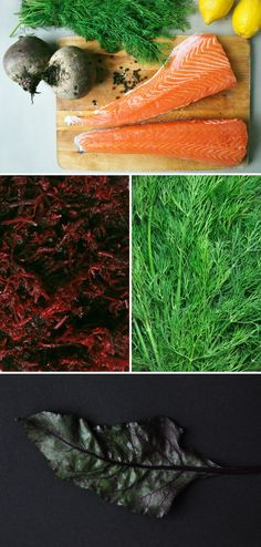 Gravlax de saumon à la betterave - J'veux être bonne New Menu, Fish And Seafood, Raw Vegan, Tasty Dishes, Beets, Fine Dining, Food Inspiration, Holiday Recipes, Tapas