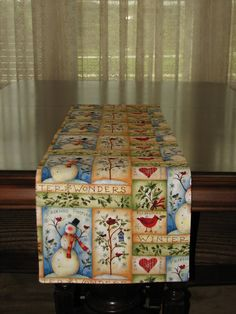 Christmas table runner rustic home decor by StylinStitchesShop