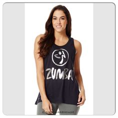 ZUMBA FITNESS Love Me or Loose Me Tank -Back to Black S M  #Zumba #ShirtsTops