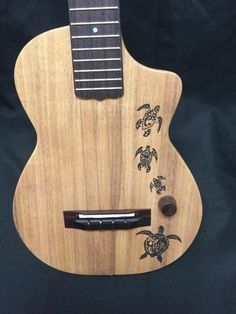 Imua Chambered Hollow Body Electric Tenor Cutaway Ukulele ITE-HONU1 Honu Turtle Tatto Original