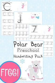 Free Polar Bear PreK Handwriting Pack - Year Round Homeschooling