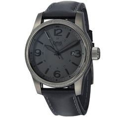 Great gift idea Oris Men's 73376294263LS Big Crown Black Leather Strap Watch