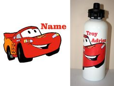 1 x BRAND NEW CARS  Personalised DRINK BOTTLE Available in WHITE / SILVER