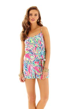 """Deanna Tank Top Romper - Lilly Pulitzer - Love this """"Palm Reader"""" print"""