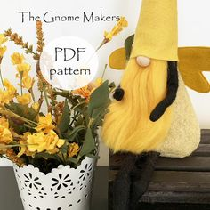 Gnome PDF Sewing Pattern Bee Dragonfly Ladybug Gnome | Etsy