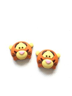 Tigger Tsum Tsum Stud Earrings, Disney Characters, Mickey, Minnie, Pooh, Dumbo, Marie, Jewelry by DivaliciousJewels on Etsy