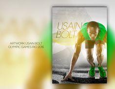 """Confira meu projeto do @Behance: """"Artwork Usain Bolt Olympic Games Rio 2016"""" https://www.behance.net/gallery/46231181/Artwork-Usain-BoltOlympic-Games-Rio-2016"""