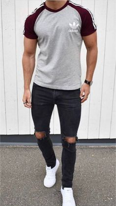 21 Stylish t-shirt outfits! 21 Stylish t-shirt outfits! Stylish Men, Men Casual, Casual Styles, Gents Fashion, Male Fashion, One Clothing, Preppy Outfits, Casual Street Style, Shirt Outfit