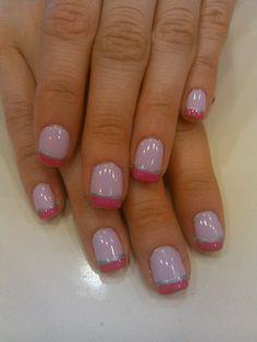 Pretty in pink!!!! Sassy French. #nailsbyashley #shellac #20loungescottsdale