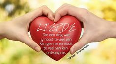 Love Live from the Heart Afrikaans Quotes, People Fall In Love, Choose Love, Fb Page, Got Married, Christmas Bulbs, The Past, Marriage, Inspirational Quotes